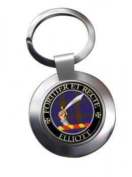 Elliott Scottish Clan Chrome Key Ring