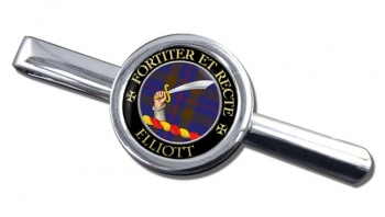 Elliott Scottish Clan Round Tie Clip