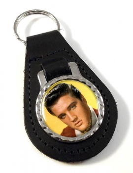 Elvis Leather Key Fob