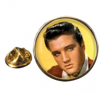 Elvis Round Pin Badge