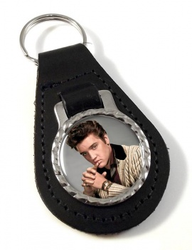 Elvis Aaron Presley Leather Key Fob