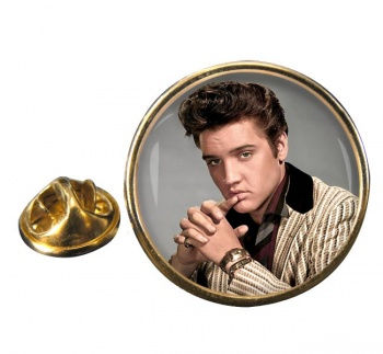 Elvis Aaron Presley Round Pin Badge