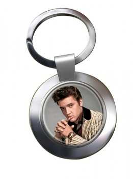 Elvis Aaron Presley Chrome Key Ring