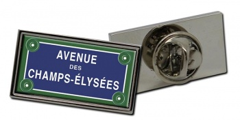 Champs Elysees Rectangle Pin Badge