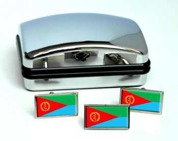 Eritrea Flag Cufflink and Tie Pin Set