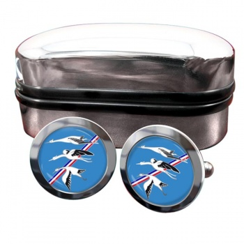 Escadron de Chasse 01-002 ''Cigognes'' (French Air Force) Round Cufflinks