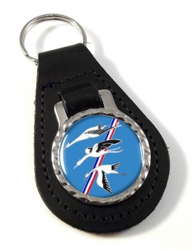 Escadron de Chasse 01-002 ''Cigognes'' (French Air Force) Leather Key Fob