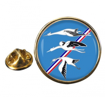 Escadron de Chasse 01-002 ''Cigognes'' (French Air Force) Round Pin Badge