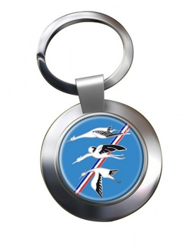 Escadron de Chasse 01-002 ''Cigognes'' (French Air Force) Chrome Key Ring