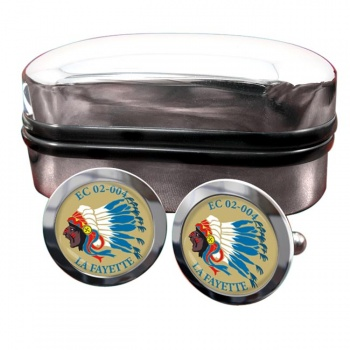 Escadron de Chasse 02-004 ''La Fayette'' (French Air Force) Round Cufflinks