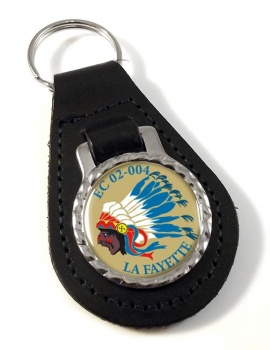 Escadron de Chasse 02-004 ''La Fayette'' (French Air Force) Leather Key Fob