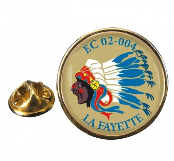 Escadron de Chasse 02-004 ''La Fayette'' (French Air Force) Round Pin Badge