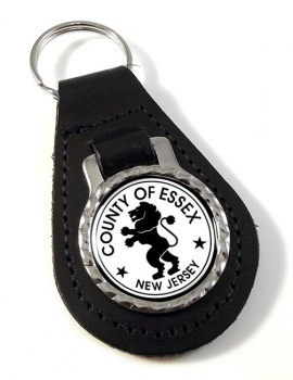Essex County NJ  Leather Key Fob