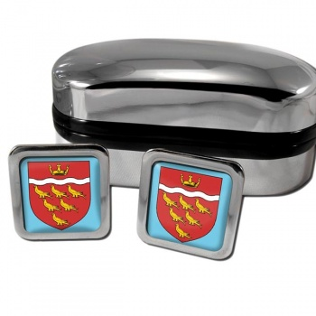 East Sussex England Square Cufflinks