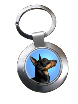 English Toy Terrier (Black & Tan) Metal Key Ring
