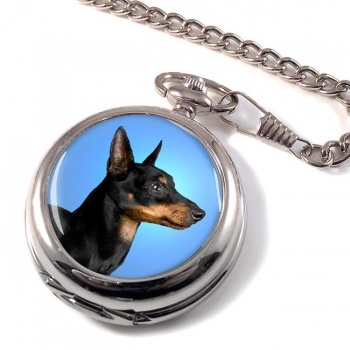 English Toy Terrier (Black & Tan) Pocket Watch