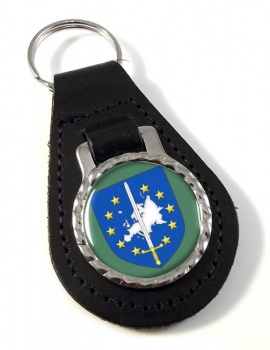 European Corps (Eurocorps) Leather Key Fob