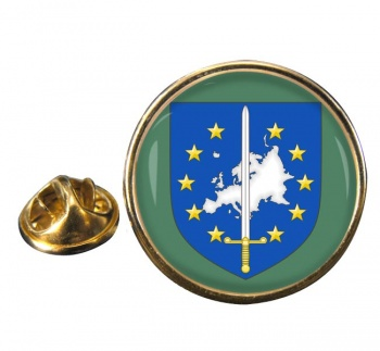 European Corps (Eurocorps) Round Pin Badge
