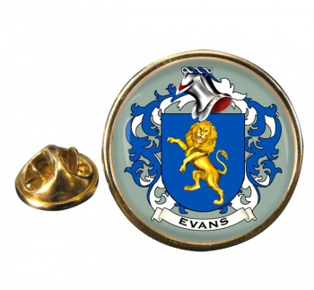Evans Coat of Arms Round Pin Badge