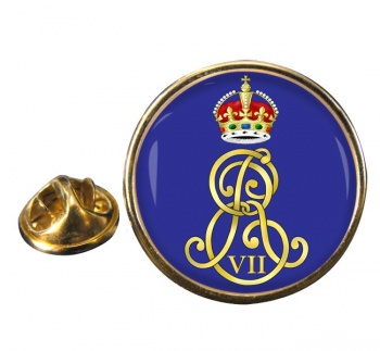 Edward VII monogram  Round Pin Badge