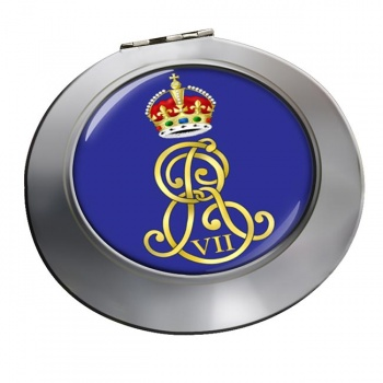 Edward VII monogram  Chrome Mirror