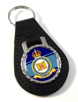 Electrical and Wireless School (Royal Air Force) Leather Key Fob