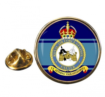 RAF Station Exeter Round Pin Badge