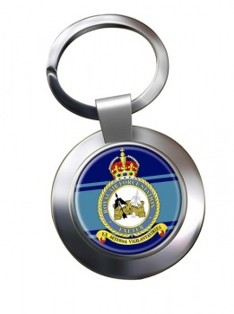 RAF Station Exeter Chrome Key Ring