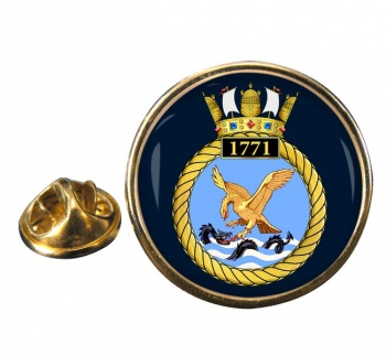 1771 Naval Air Squadron Round Pin Badge