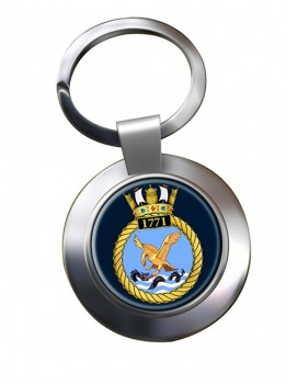 1771 Naval Air Squadron Chrome Key Ring