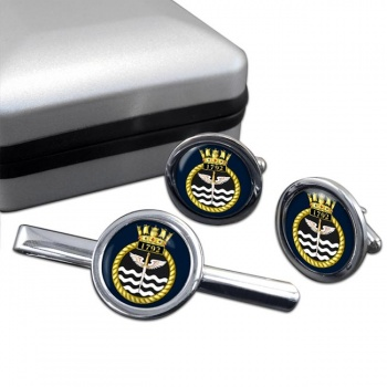 1792 Naval Air Squadron (Royal Navy) Round Cufflink and Tie Clip Set