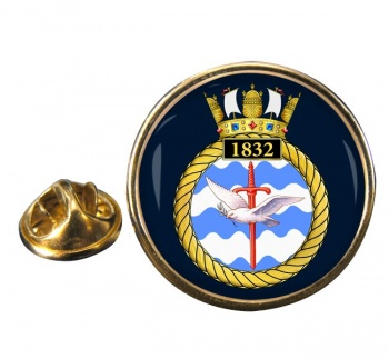 1832 Naval Air Squadron (Royal Navy) Round Pin Badge