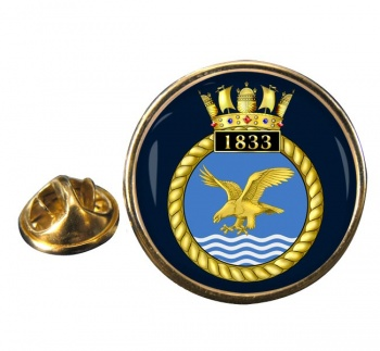 1833 Naval Air Squadron (Royal Navy) Round Pin Badge