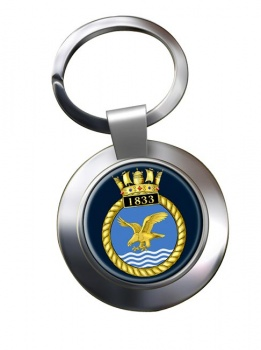 1833 Naval Air Squadron (Royal Navy) Chrome Key Ring