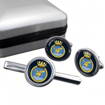 1833 Naval Air Squadron (Royal Navy) Round Cufflink and Tie Clip Set
