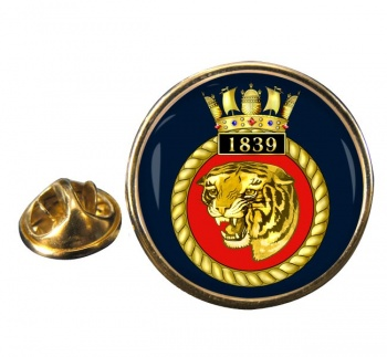 1839 Naval Air Squadron  Round Pin Badge
