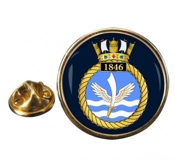 1846 Naval Air Squadron (Royal Navy) Round Pin Badge