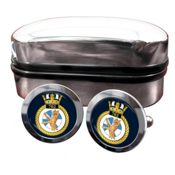 702 Naval Air Squadron (Royal Navy) Round Cufflinks