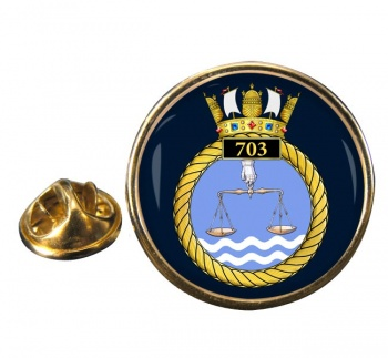 703 Naval Air Squadron Round Pin Badge