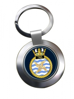 705 Naval Air Squadron (Royal Navy) Chrome Key Ring