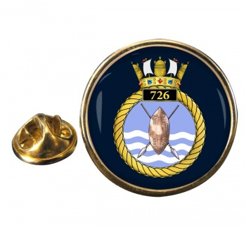 726 Naval Air Squadron Round Pin Badge