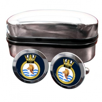 727 Naval Air Squadron (Royal Navy) Round Cufflinks