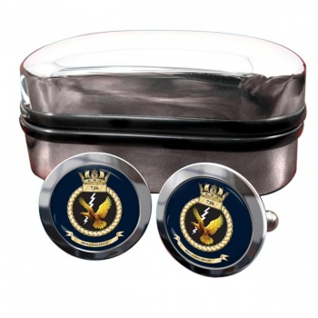 736 Naval Air Squadron (Royal Navy) Round Cufflinks