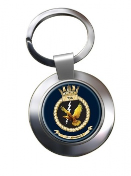 736 Naval Air Squadron (Royal Navy) Chrome Key Ring