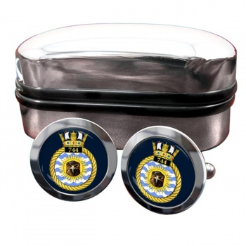 744 Naval Air Squadron (Royal Navy) Round Cufflinks
