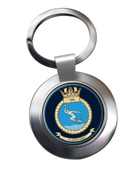750 Naval Air Squadron (Royal Navy) Chrome Key Ring