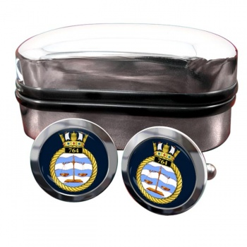 764 Naval Air Squadron (Royal Navy) Round Cufflinks