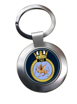 765 Naval Air Squadron (Royal Navy) Chrome Key Ring