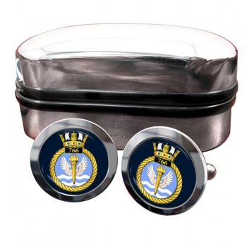 766 Naval Air Squadron (Royal Navy) Round Cufflinks