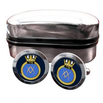 778 Naval Air Squadron (Royal Navy) Round Cufflinks